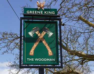 The Woodman Pub in Chapmore End
